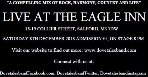 Dovetales Live at The Eagle Inn, Salford, 8th December 2018
