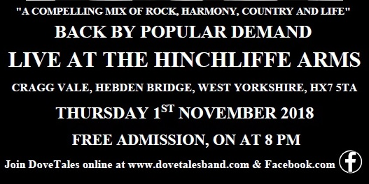 Dovetales Live at The Hinchliffe Arms, Cragg Vale, 1st November 2018