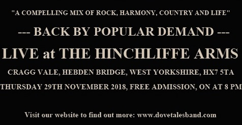 Dovetales Live at The Hinchliffe Arms, Cragg Vale, 29th November 2018