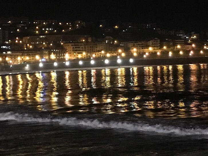 The town at night