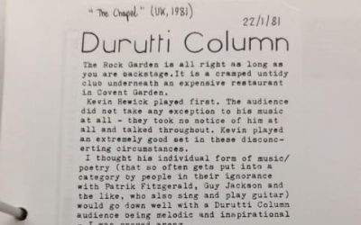 The Early Days of Durutti Column
